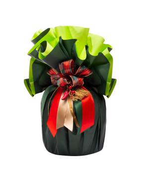 Fogli Tondi per Panettone Bicolor Verde Scuro / Verde Chiaro