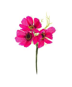 Pick Papaveri 3 fiori Fucsia