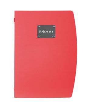 Portamenù Plastica Colorata Rosso