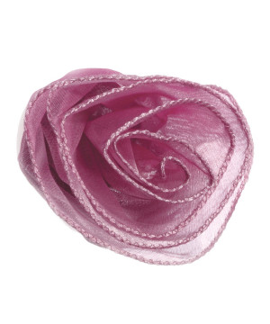 Rosa Tessuto Organza con zip Lilla