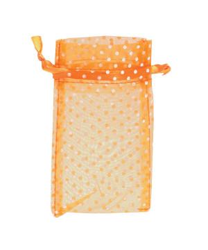 Sacchetti Organza Pois Arancio