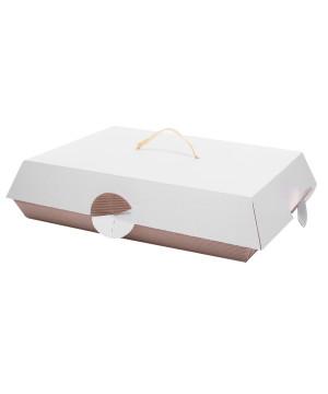 Scatola Porta Paste Coperchio Opaco Bianco