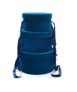 Set Cappelliere in Velluto Blu