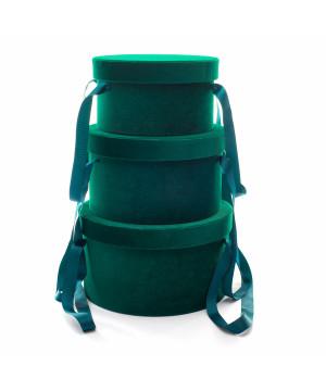Set Cappelliere in Velluto Verde Bosco
