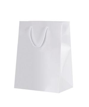 Shopper Carta Lusso Lucida Bianco