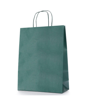 Shopper Carta Colorata Verde Scuro