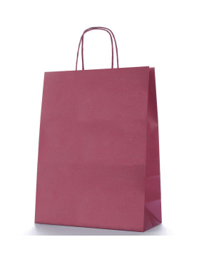 Shopper Carta Colorata Bordeaux