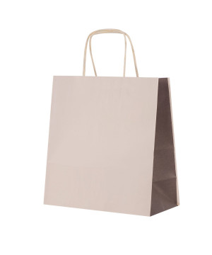 Shopper Carta Bicolor Beige