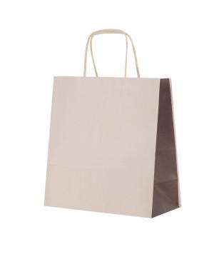Shopper Carta Bicolor Beige