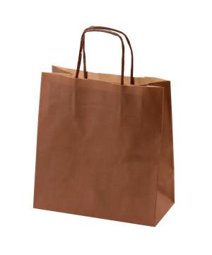 Shopper Carta Kraft Colorata Marrone
