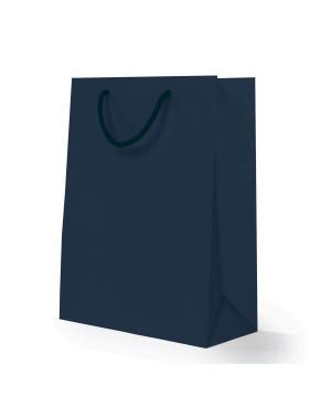 Shopper Carta Lusso Opaca Blu