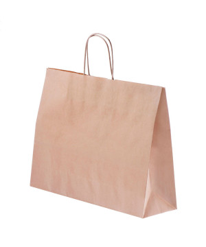 Shopper Carta Kraft cordino Avana