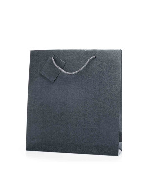 Shopper Bijoux in Carta Perlata Grigio Scuro