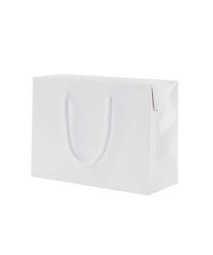 Shopper Carta Lusso Lucida Bag Box Bianco