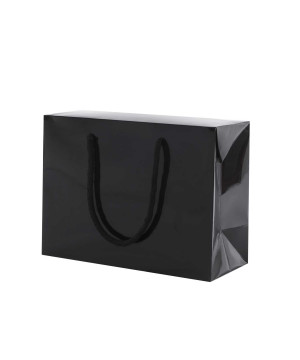 Shopper Carta Lusso Lucida Bag Box Nero