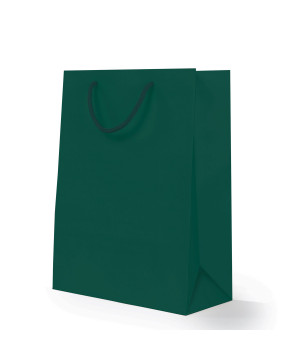 Shopper Carta Lusso Opaca Verde Bosco