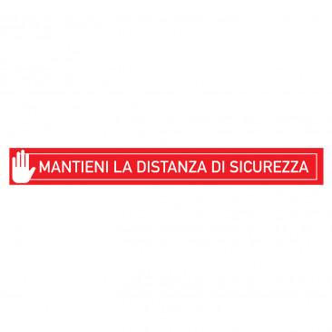 Striscia Adesiva Distanza di Sicurezza Rosso