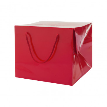Bag Box Portapanettone Lusso Lucida Rossa
