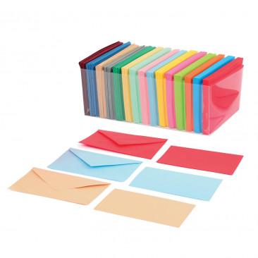 Bigliettini colorati con busta Mix 15 Colori