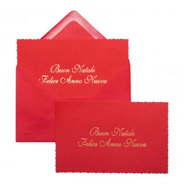 Bigliettino Natalizio Buon Natale Rosso