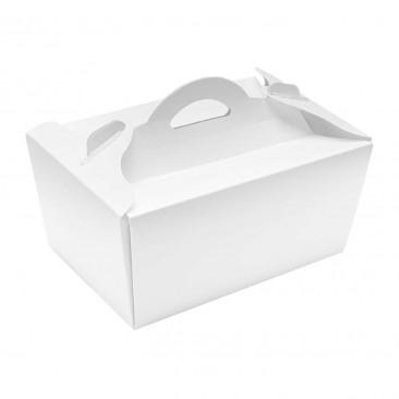 Box per Asporto in Cartoncino con Maniglia Bianco