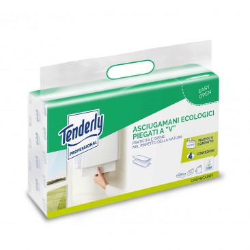 Carta Asciugamani Ecologica Piegata a V Bianco
