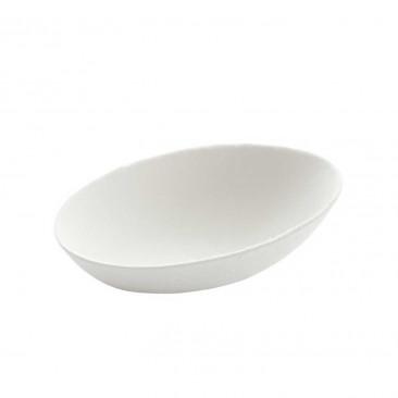 Coppetta Ovale in Polpa di Cellulosa Bianco