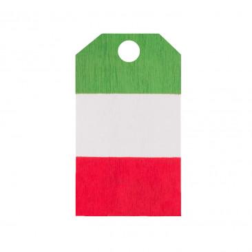 Tag in Legno Tricolore Italia