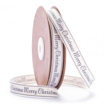 Nastro Merry Christmas  Grigio