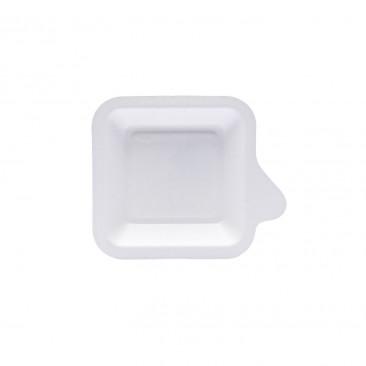 Piattino per Dolce Rettangolare in Polpa di Cellulosa
