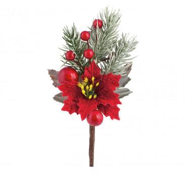 Pick Stella Natale con Bacche Rossa