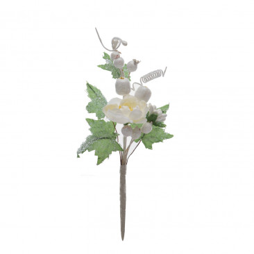 Pick Rosa Bianca e Glitter Bianco