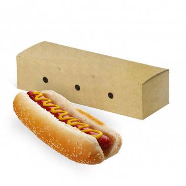 Porta Hot Dog Richiudibile in Cartoncino Kraft