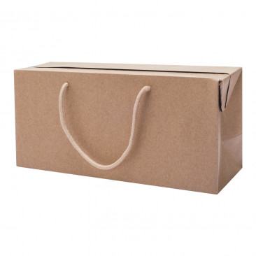 Portabottiglia Bag Box Kraft Avana