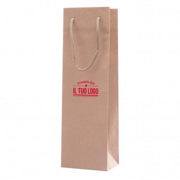 Shopper Portabottiglia Carta Rigata Personalizzata