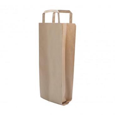 Portabottiglie Flat Bag Wine Carta Avana