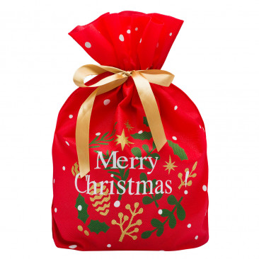 Portapanettone TNT Stampa Merry Christmas Rosso