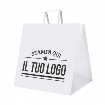 Shopper Carta Foodline Maxi Piattina Personalizzata