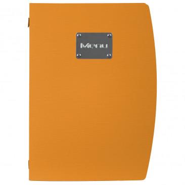Portamenù Plastica Colorata Arancio