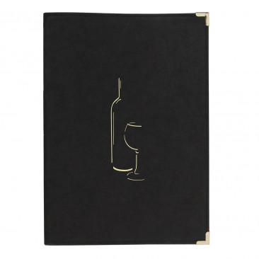 Carta dei Vini Similpelle Nero