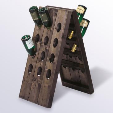 Pupitre in Legno per bottiglie Nero