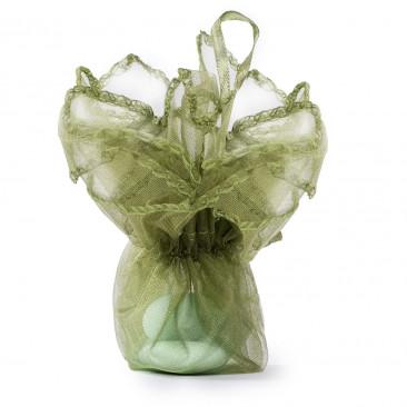 Sacchetti Organza con Laccetto Verde
