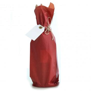 Sacchetti Portabottiglie Carta Sealing Colorata Rosso