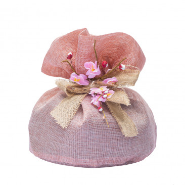 Sacchetti Portacolomba Tessuto Rosa Antico
