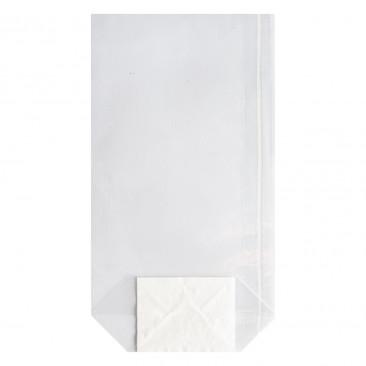 Sacchetti Plastica Trasparente Fondo Esagonale in Carta