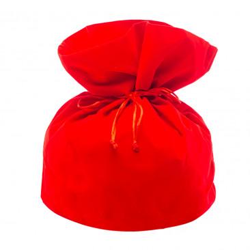 Sacco Portapanettone di Velluto Rosso