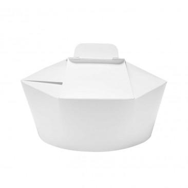 Food Box Esagonale in Cartoncino Bianco