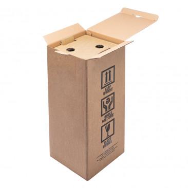 Scatola EWINE SECURE PACK® Spedizione Bottiglie Magnum Avana