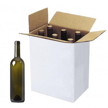 Scatole per Bottiglie Bordolese con Alveare