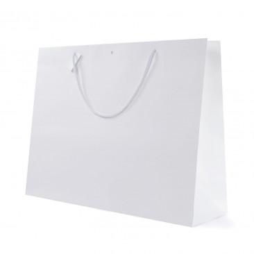 Shopper Carta White con Tag & Foro Bianco